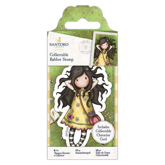 Gorjuss Girls Collectable Rubber Stamp #43, Spring at Last