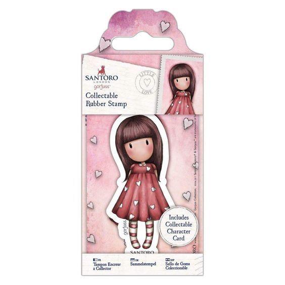 Gorjuss Girls Collectable Rubber Stamp #51 Little Love