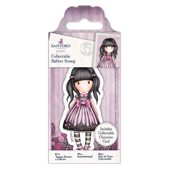 Gorjuss Girls Collectable Rubber Stamp #53 Sugar And Spice