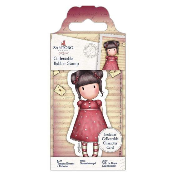 Gorjuss Girls Collectable Rubber Stamp #54 Sweetheart