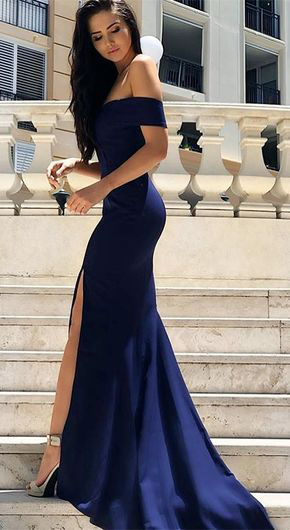 Gorgeous Sweetheart Navy Blue Mermaid Long by prom dresses on Zibbet