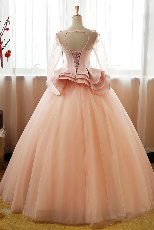 UNIQUE TULLE LONG PROM DRESS, TULLE EVENING DRESS, SWEET 16 DRESS