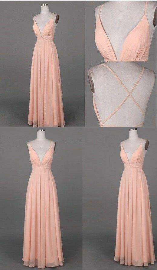 Simple Long Prom Dress,Simple A-line V-neck by prom dresses on Zibbet