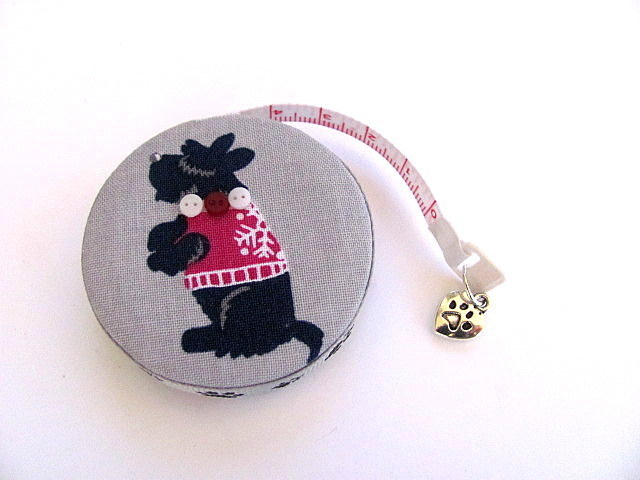 Measuring Tape Black Scottie Dogs RetractableTape Measure