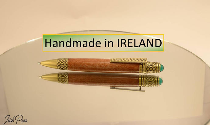 Celtic handmade in Ireland Pen Wooden Pen Personalize pen gift from Ireland