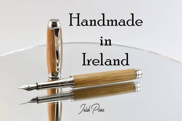 Fountain pen, Calligraphy pen, Handmade pens, Wooden pen, Made in Ireland, Irish