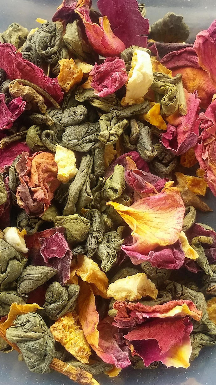 Organic Lemon Rose Green Tea