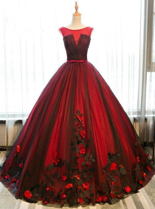 Cheap prom dresses Red Prom Dresses Princess by prom dresses on Zibbet