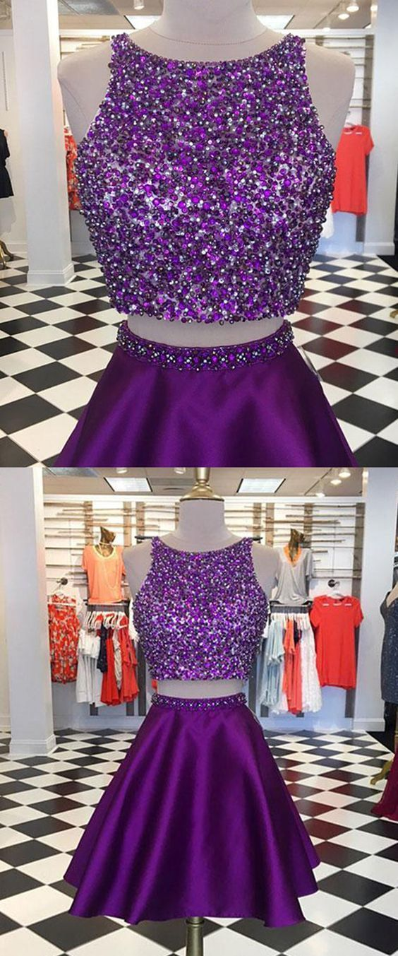 Purple Party Dresses Short Prom Dresses By Prom Dresses On Zibbet