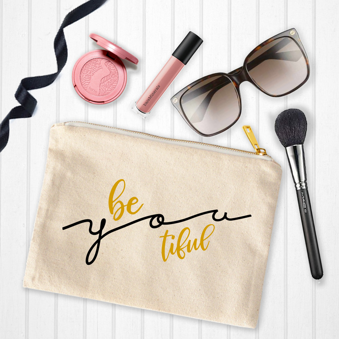 Beyoutiful, Custom Makeup Pouch, personalized birthday gifts, younique, makeup