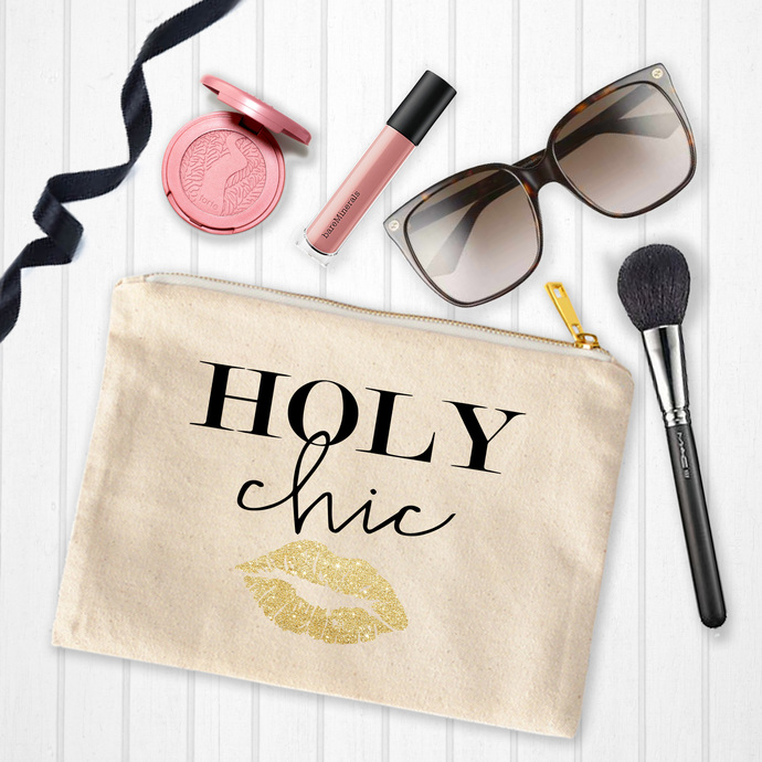 Holy Chic, Custom Makeup Pouch, personalized birthday gifts, younique, makeup
