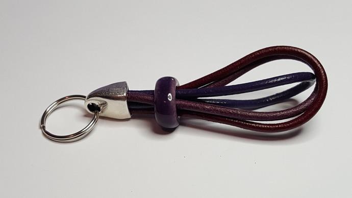 Euro Italian Leather Keychain, Item #1538