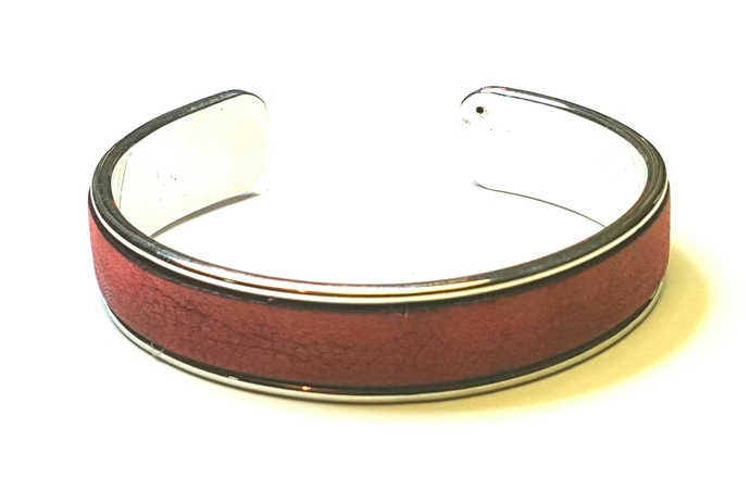 Euro Italian Leather Cuff Bracelet, Item #2600