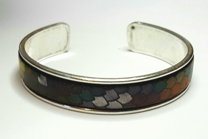 Euro Italian Leather Cuff Bracelet, Item #2604