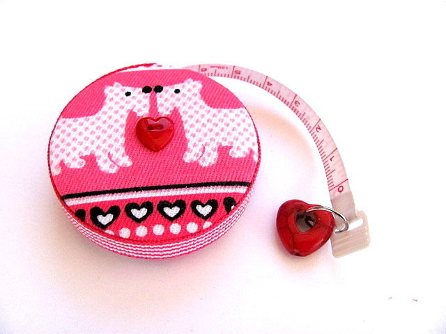 Measuring Tape with Scottie Dogs Retractable Tape Measure