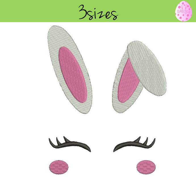 Embroidery Machine Designs Bunny face easter pattern digital instant download