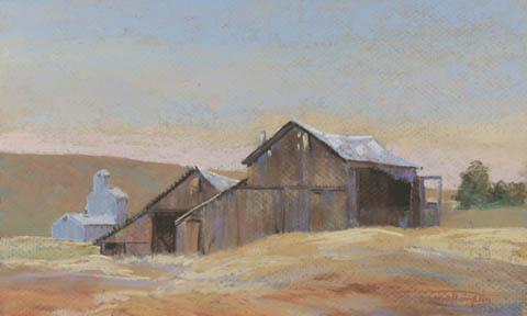 """Grain Barns"" Giclee Paper Print by Carol Thompson"