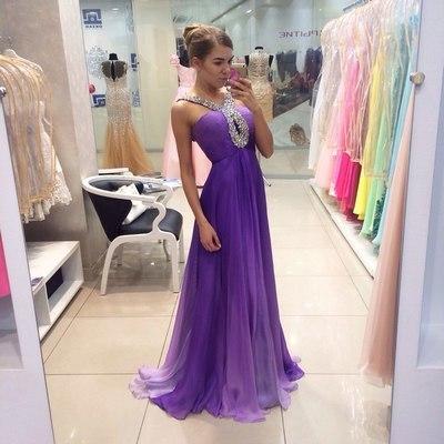 V-Neck Beading A-Line  Prom Dresses,Long Prom Dresses,Cheap Prom Dresses,