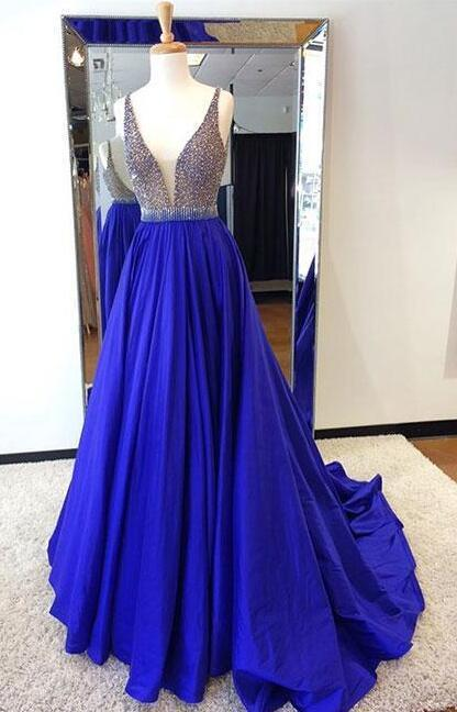 2f8a7909b8c8 Beading Prom Dress,Royal Blue Prom Dress,Cheap Prom Dress,Long Prom Dresses