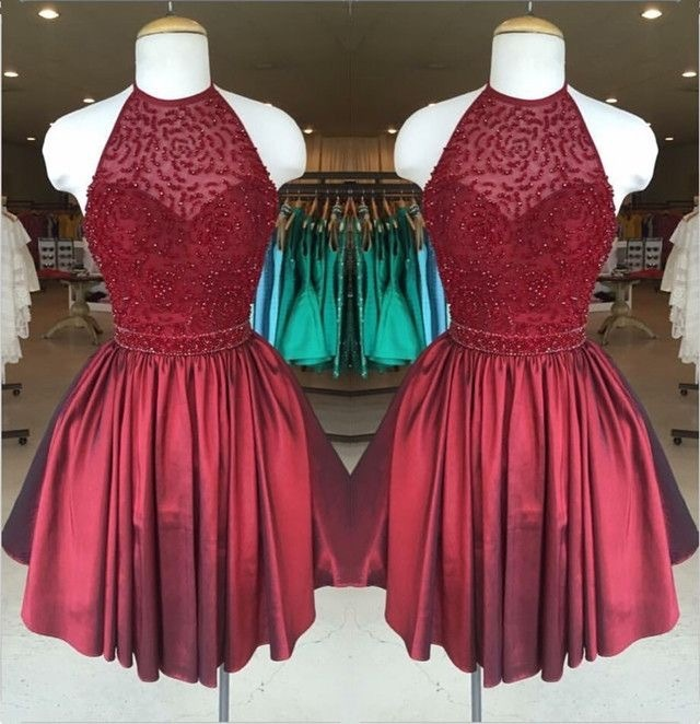 897f615754 Gorgeous Low Back Halter Neck Beaded by prom dresses on Zibbet