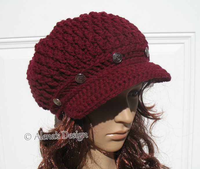 Crochet Pattern 089 Pom Pom Slouchy Hat By Alenasdesign On Zibbet