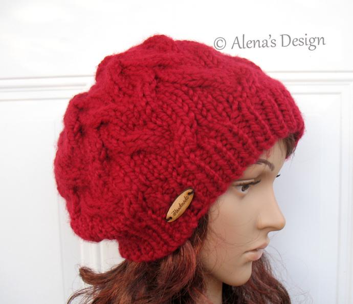 Knitting Pattern 203 Cable Pattern Hat Knitting Pattern Amanda Slouchy Hat