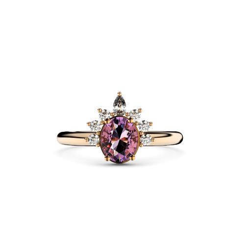 grande s barkevs diamond barkev ring sapphire white flower products halo pink gold rings engagement and