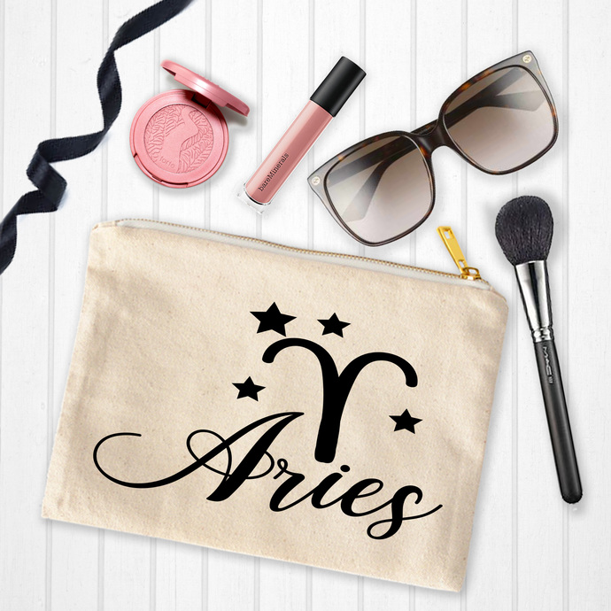 Aries Custom Makeup Pouch Personalized Birthday Gifts Younique