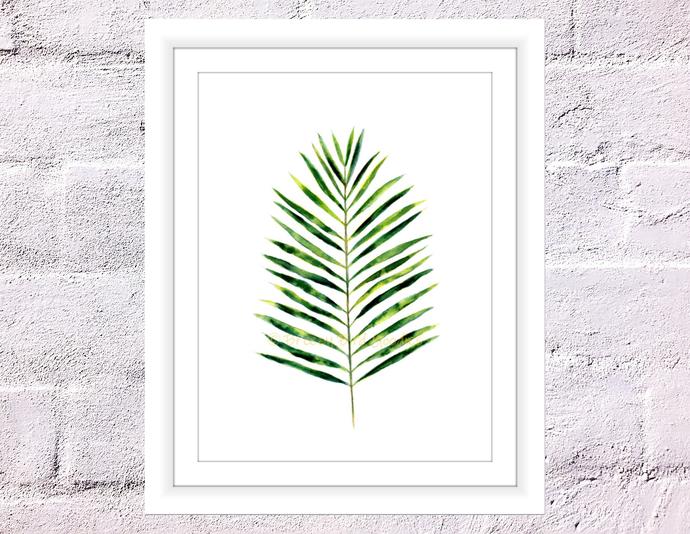 Palm Leaf Print, Palm Print, Botanical Art, Minimalist Art, Tropical Print,