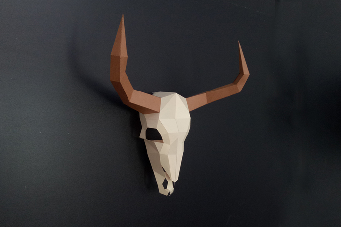 diy papercraft bull skull cow skull animal by paperamaze on zibbet