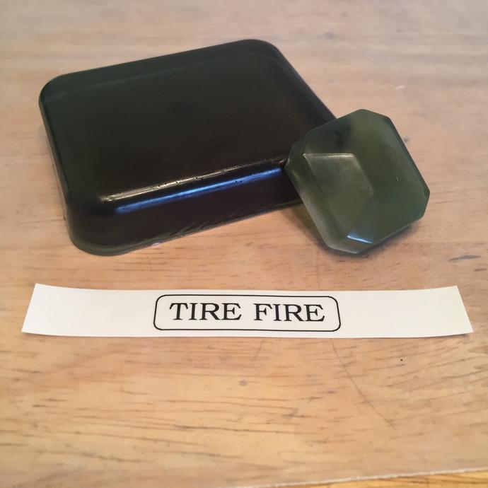 Tire Fire Glycerin Soap Bar
