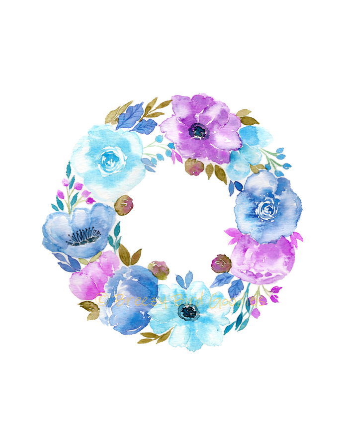 Custom Floral Painting, Original Watercolour Flowers, Design Your Own Floral