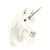 Unicorn Print, Watercolour Unicorn, Unicorn with Flower Crown, White Unicorn