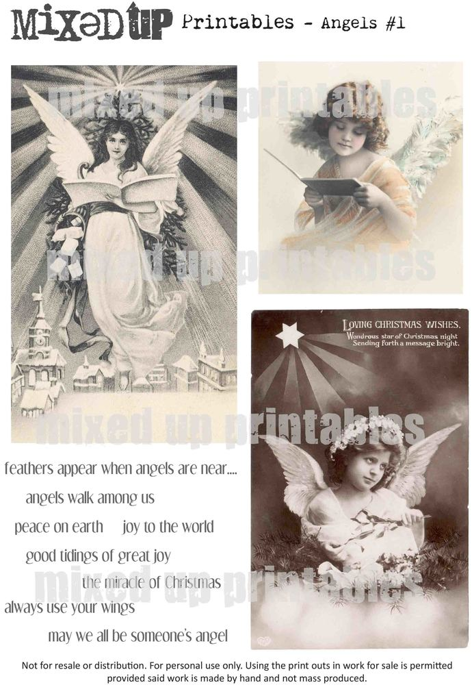 Mixed Up's Printables Angels #1