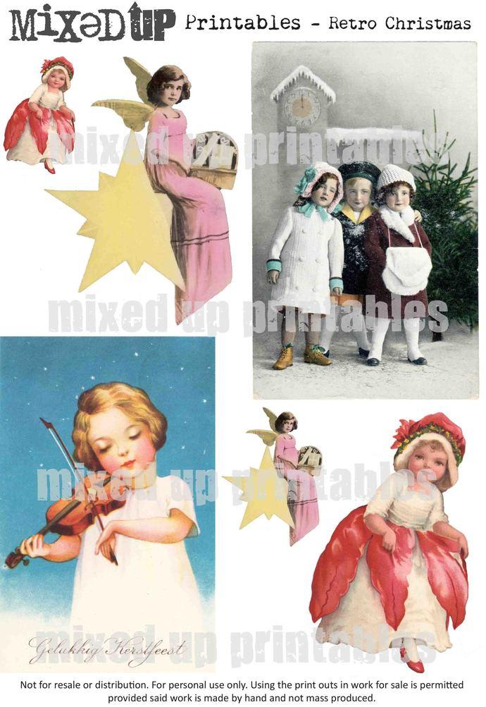 Mixed Up's Printables Retro Christmas