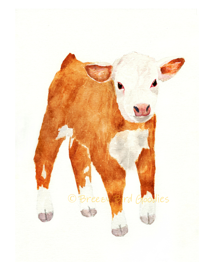 Farm Animals Set of 6 Prints