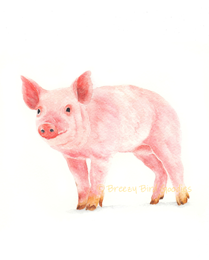 Farm Animals Set of 6 Prints, Watercolor Farm Animals, Select 6 Prints, Nursery