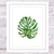 Monstera Leaf Print, Watercolour Monstera, Coastal Plant Art, Beach House Decor,