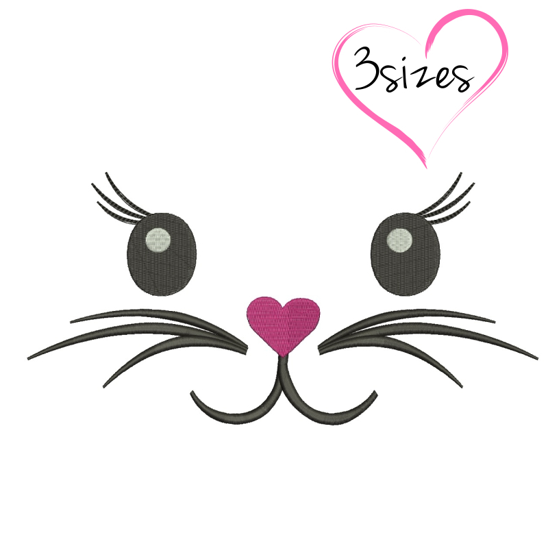 Embroidery Machine Designs Bunny Face By Gretaembroidery