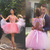 Short Pink Homecoming Dress, Sexy Handmade Flowers Homecoming Dress, Tulle Puffy
