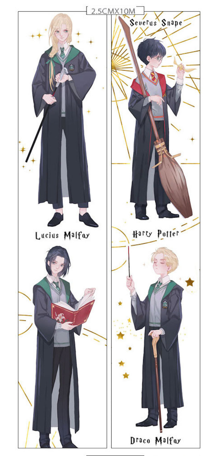 1 Roll Limited Edition Washi Tape: Harry Potter, Draco Malfoy, Lucius Malfoy and