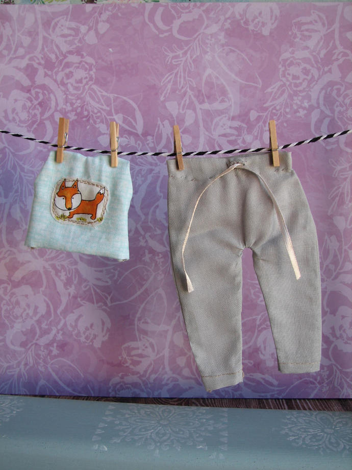 1:6 Full Size Blythe clothes doll Top and Pants set Foxy