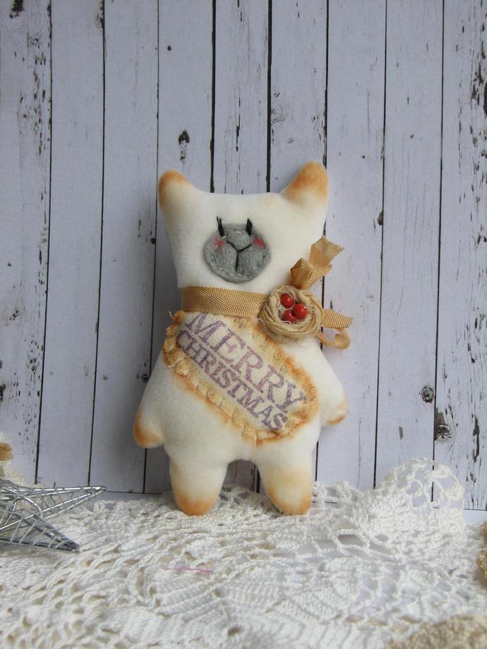 SALE Christmas Bear by Woollybuttbears