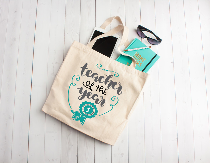 Teacher of the year, personalized book bags, teacher appreciation gifts, Custom