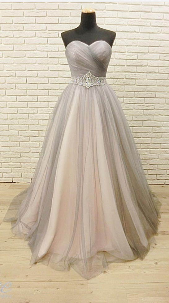 Sweetheart Formal Party Dress,Silver Tulle by prom dresses on Zibbet
