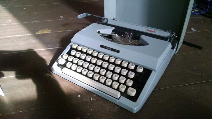 Vintage Compact Royal Typewriter