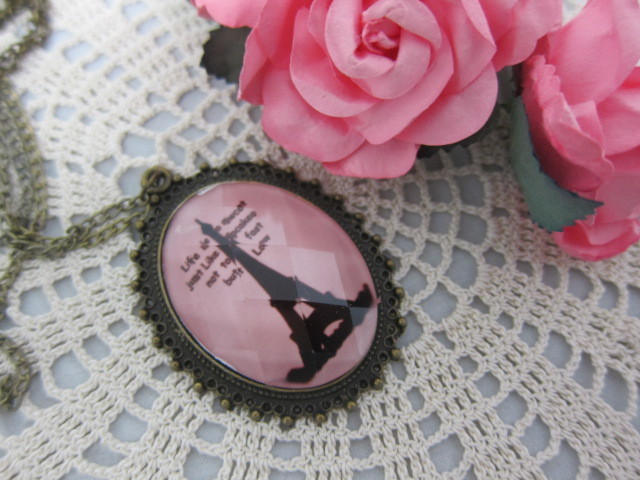 Vintage Gem Bunny Rabbit Necklace - Bronze - Eiffel tower, Rabbit stl