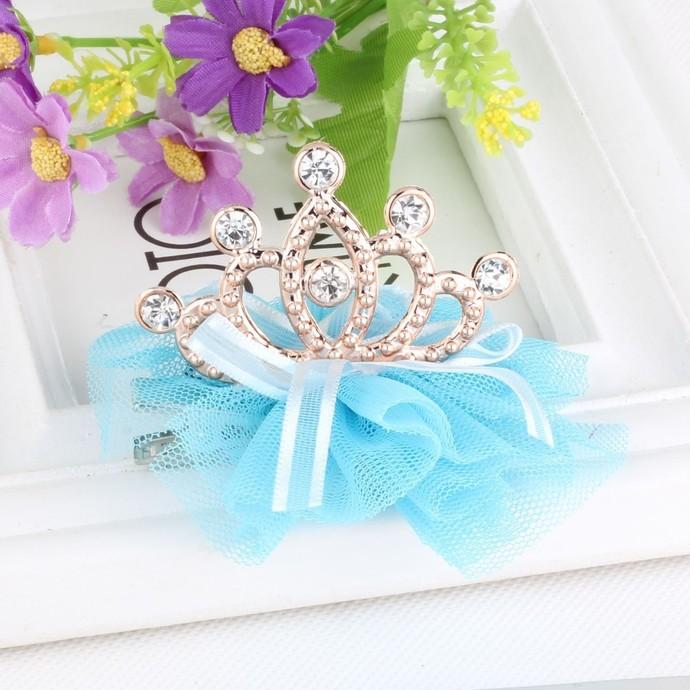 "Rhinestone Crown Shaped Embellishment - 2 1/4"""
