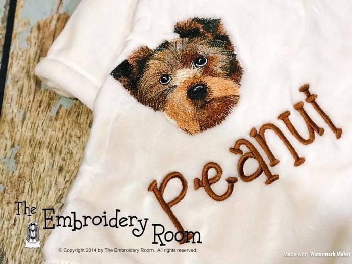 Yorkie-Floppy Ears-Plush Dog Blanket