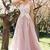Stylish blush pink lace appliqués long prom dress, formal dress 2018